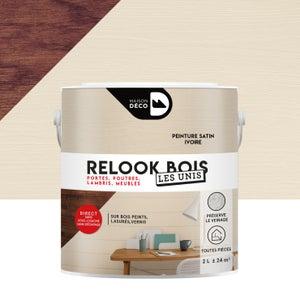 Lasure intérieure poutre et lambris Relook bois MAISON DECO, 2 l, ivoire