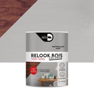 Lasure intérieure poutre et lambris Relook bois MAISON DECO, 1 l, galet