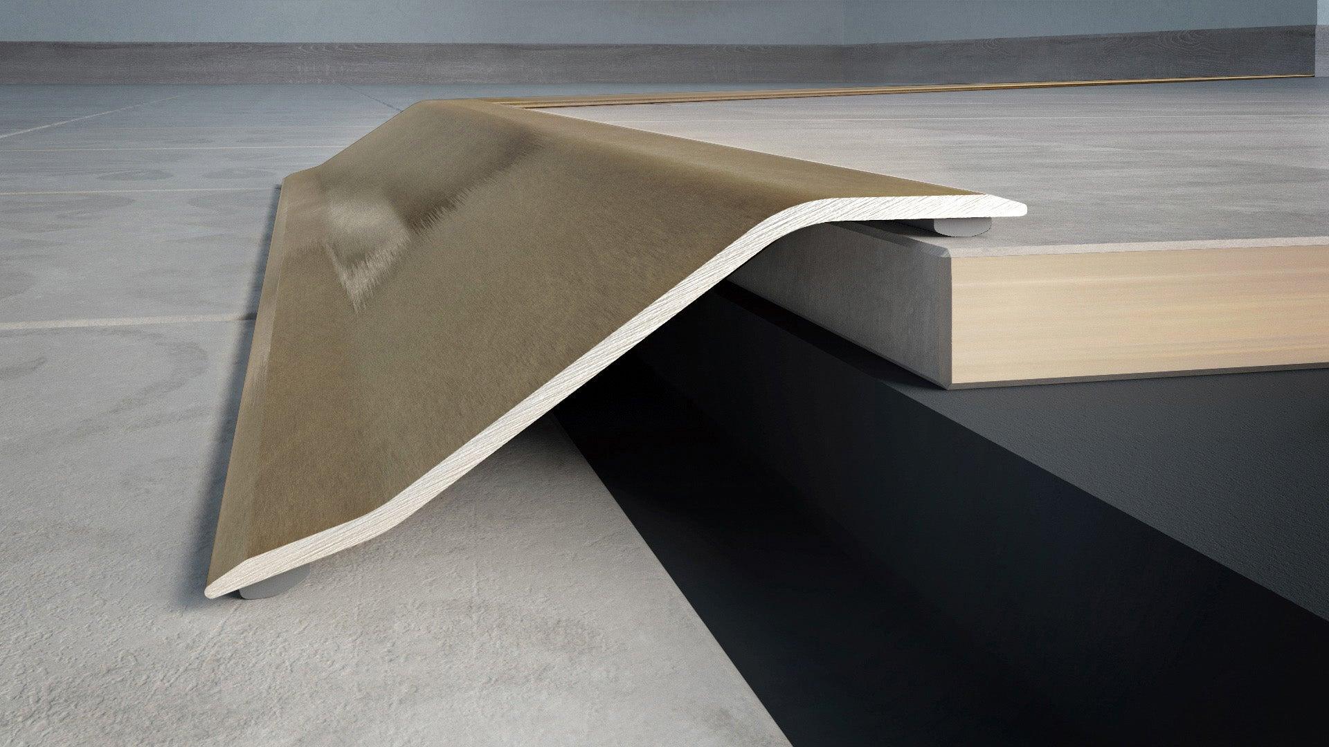 Barre de seuil alu brossé, L.83 cm x l.50 mm