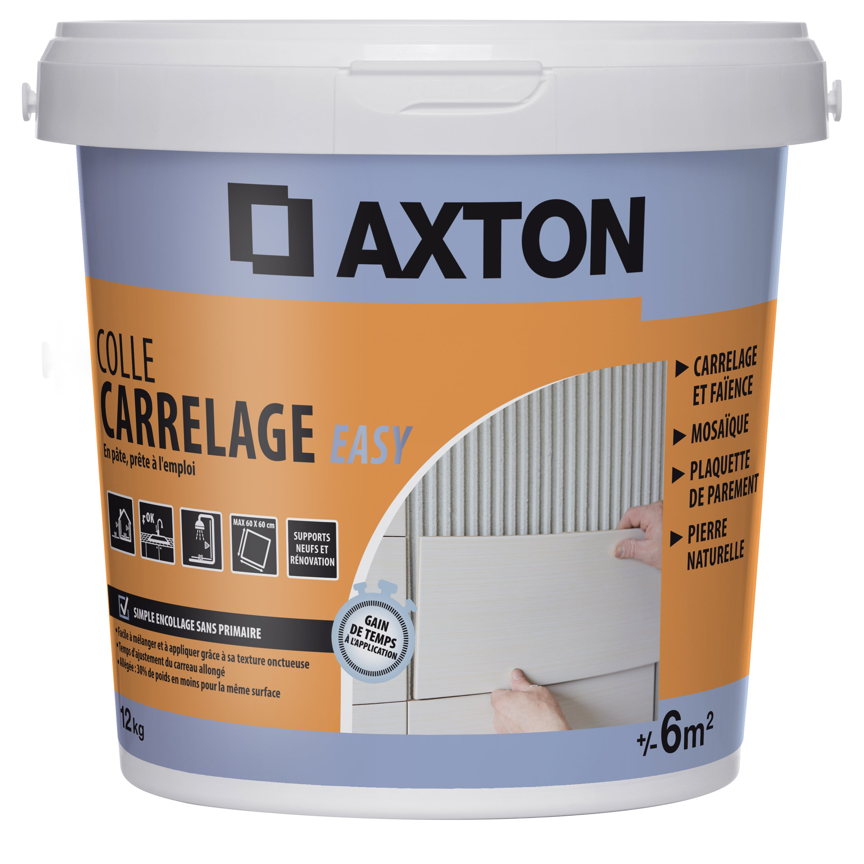 Colle Pate Axton Easy Blanc 12 Kg 6 M Leroy Merlin
