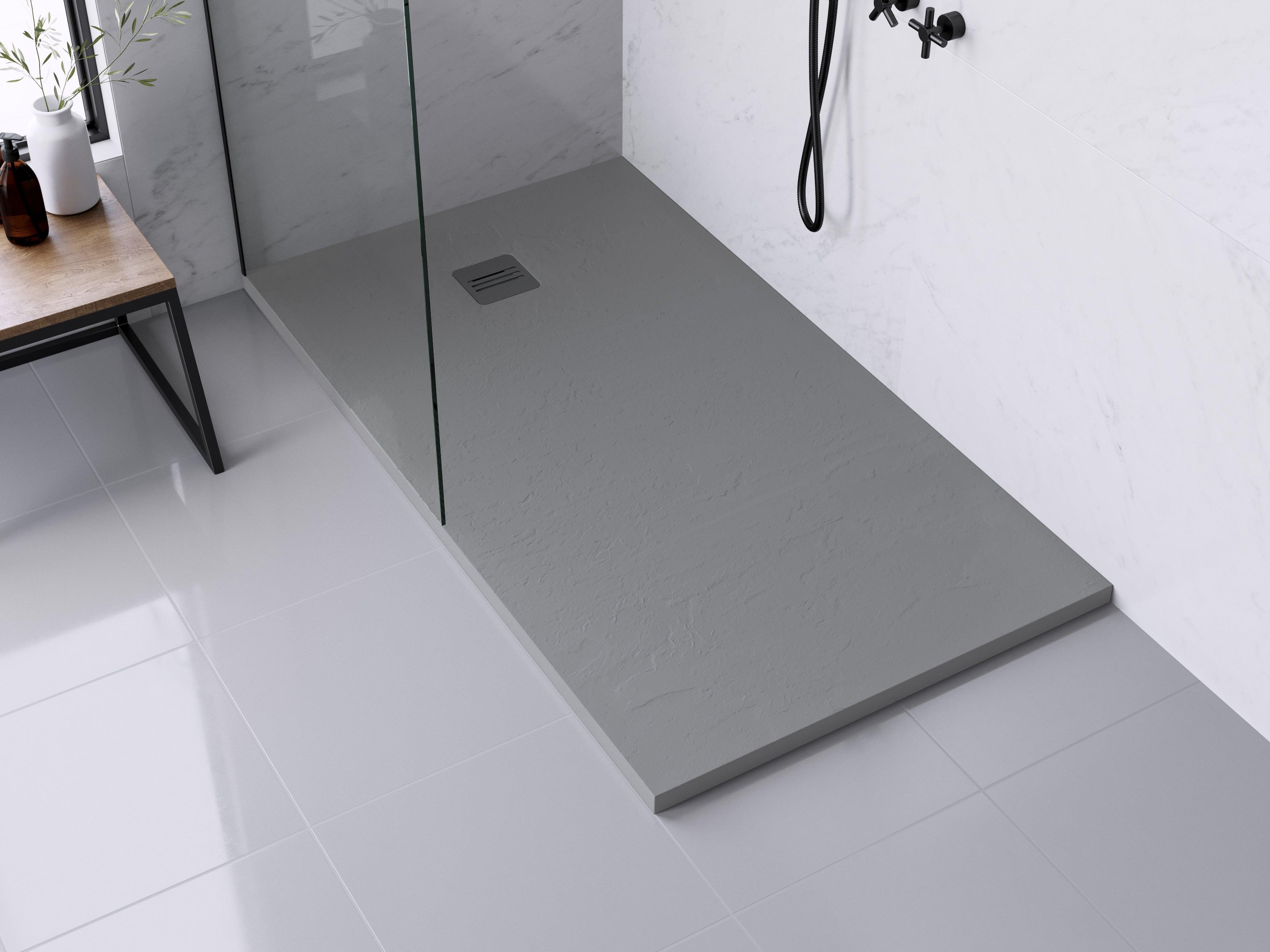 receveur de douche extraplat resine gris l 160 x l 90 cm remix