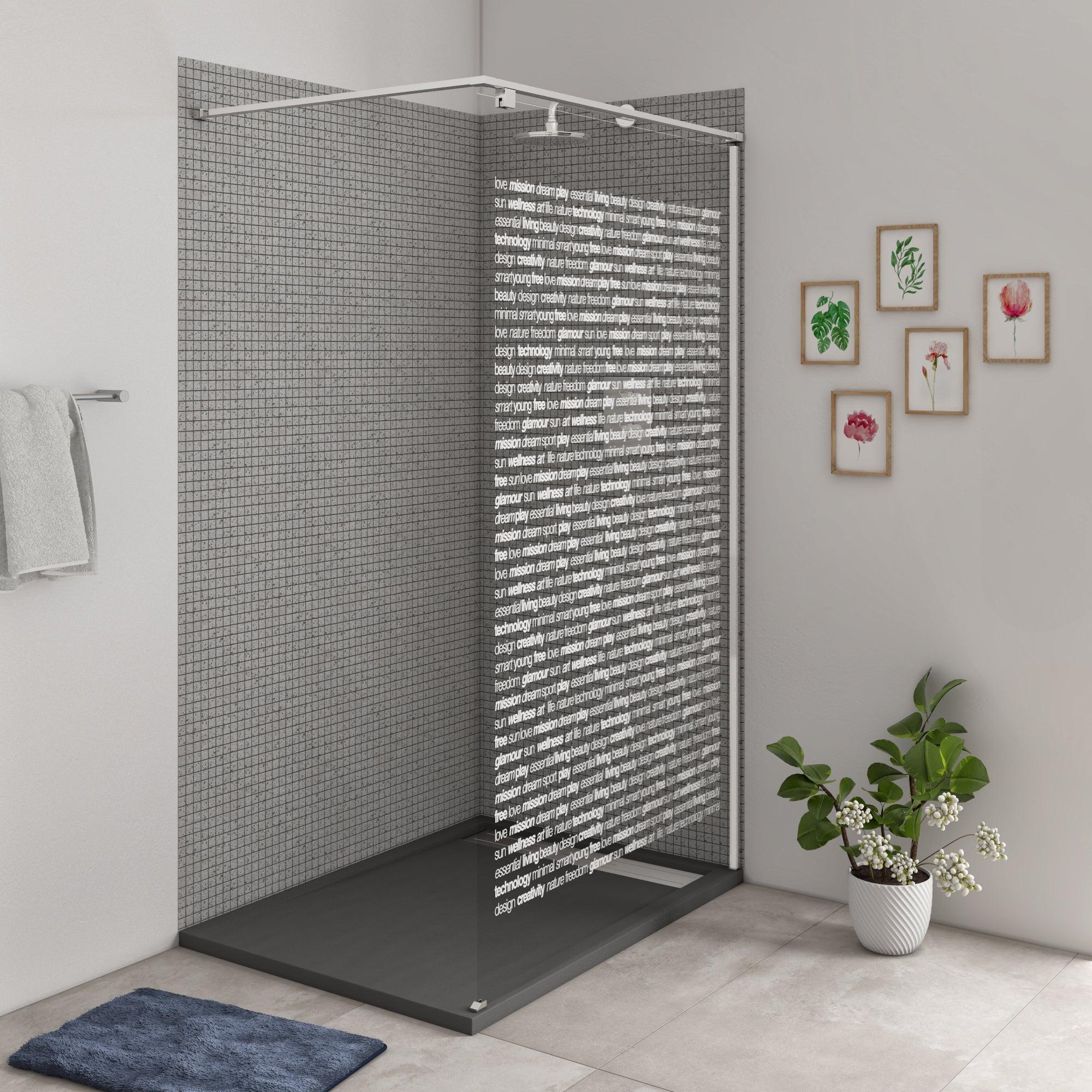 douche a l italienne eliseo avec receveur urban anthracite 80x120 cm