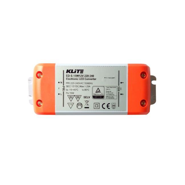 Transformateur LED 12V, 15W INSPIRE