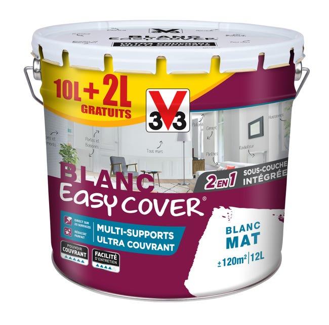 Peinture Multisupport V33 Easy Cover Blanc Couvrant Mat 12 L Leroy Merlin
