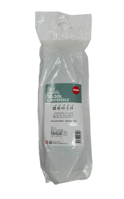 Sacs Poubelle 30 L Hailo Plastique Noir Leroy Merlin