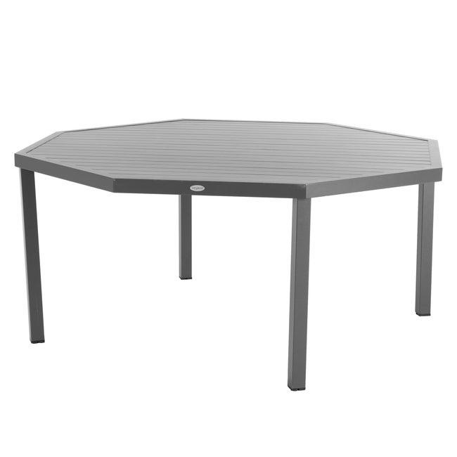 Table de jardin de repas HESPERIDE Piazza octogonale marron 8 personnes