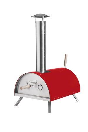 Four à pizza en acier rouge, l.41 x L.58 x H.28 cm