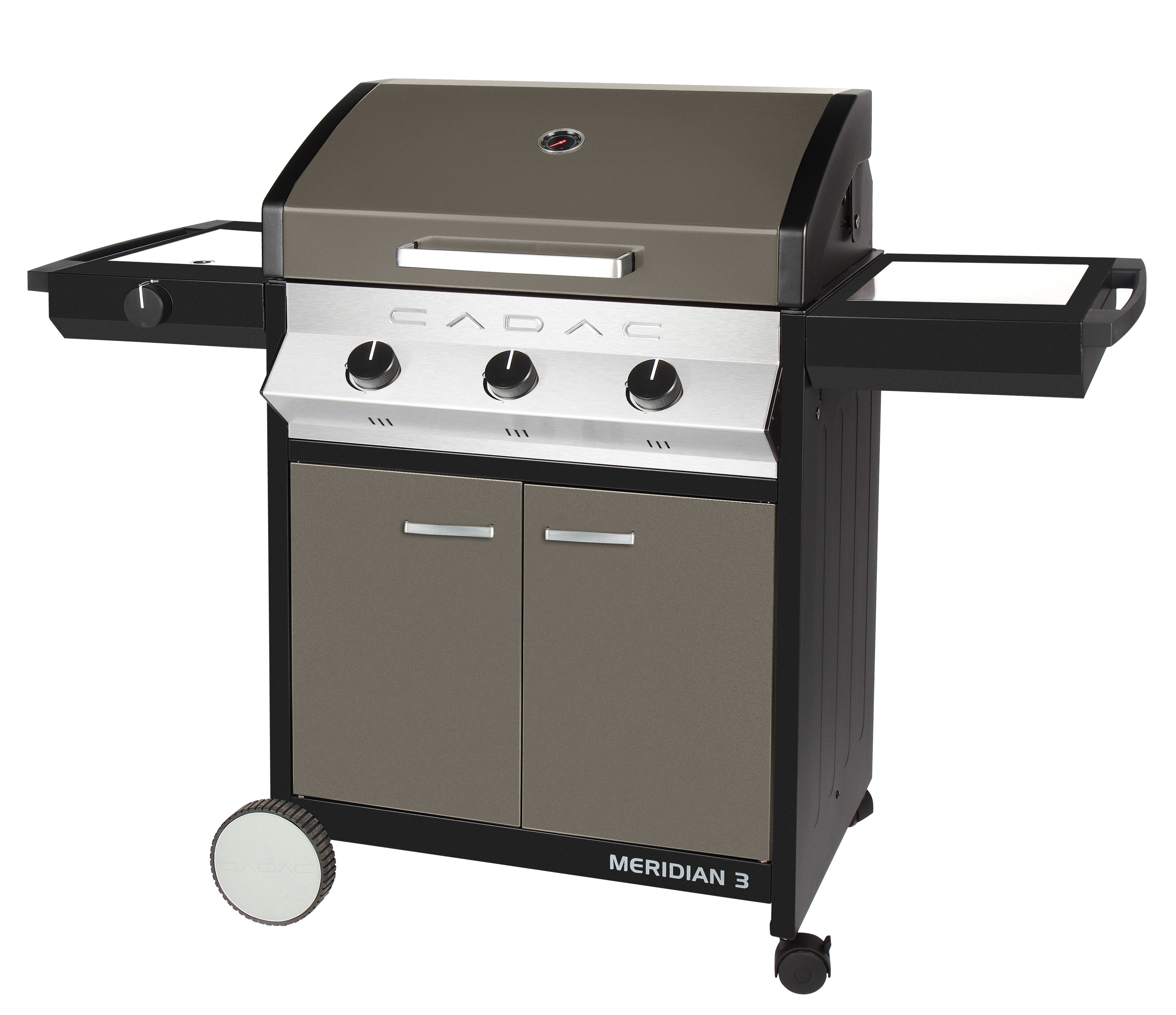 Barbecue à gaz encastrable Meidian Inox 3 brûleurs Esprit