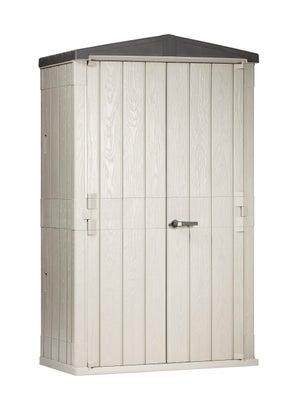 Armoire De Jardin Resine High Storer Plus Gris Clair L 130 X H 218 4 X P 75 6cm Leroy Merlin