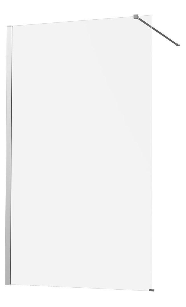 Paroi de douche à l'italienne verre transparent, l.80 cm, Ep.8 mm chromé Remix