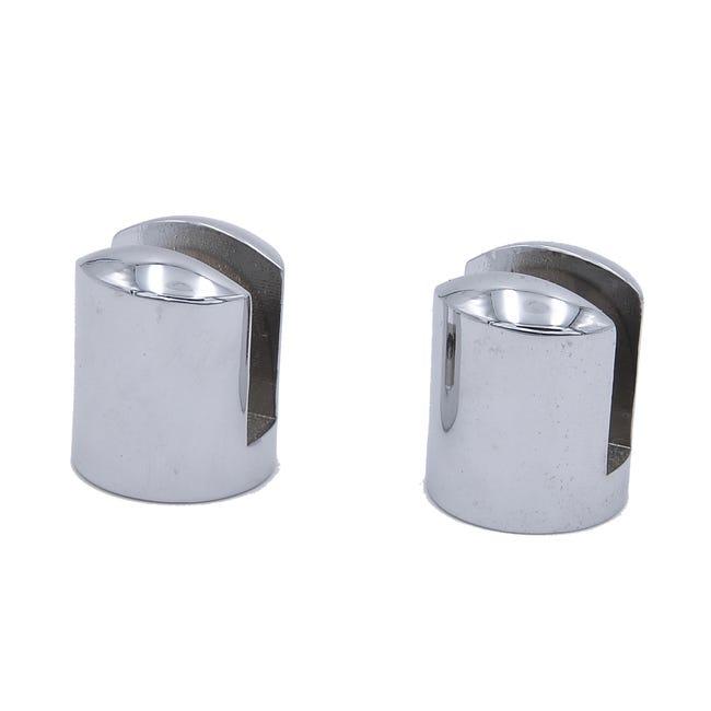 Kit De Fixation Anneau Metal Chrome Pour Tablette Modul Leroy Merlin