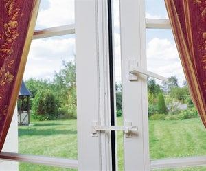 Entrebâilleur pour fenêtres plastique / pvc blanc, SOCONA