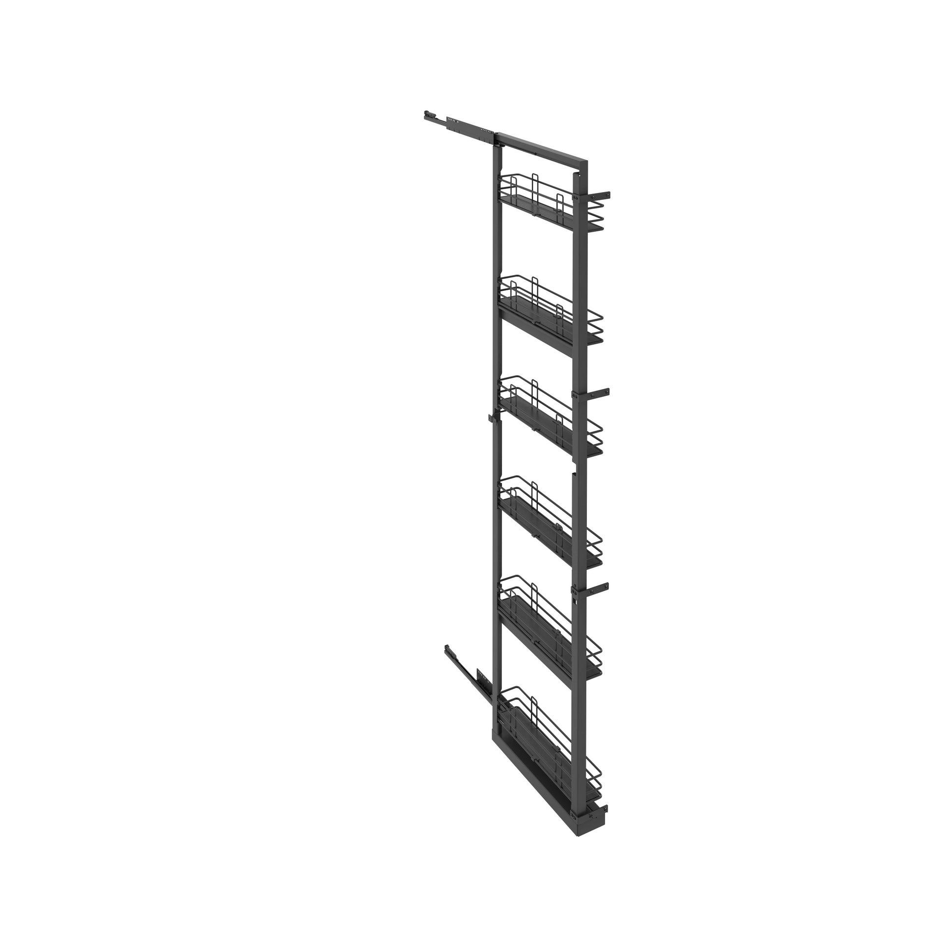 Rangement coulissant colonne 6 paniers pour meuble ou colonne l.15 cm