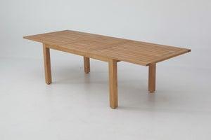 Image : Table de jardin de repas Karry gum rectangulaire marron 6/8 personnes
