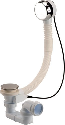 Vidage pour baignoire à clapet avec siphon 70, 0203577, NICOLL