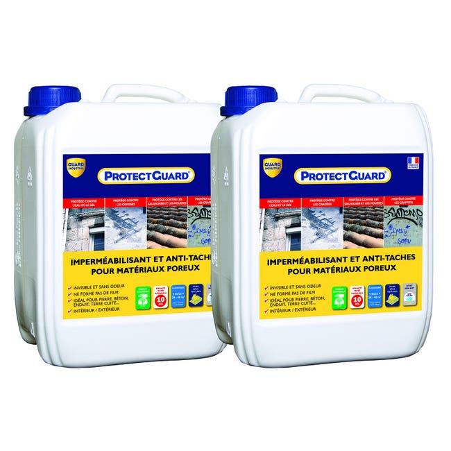 Impermeabilisant Facade Et Sol Exterieur Protectguard Lot 2x5l Incolore Leroy Merlin