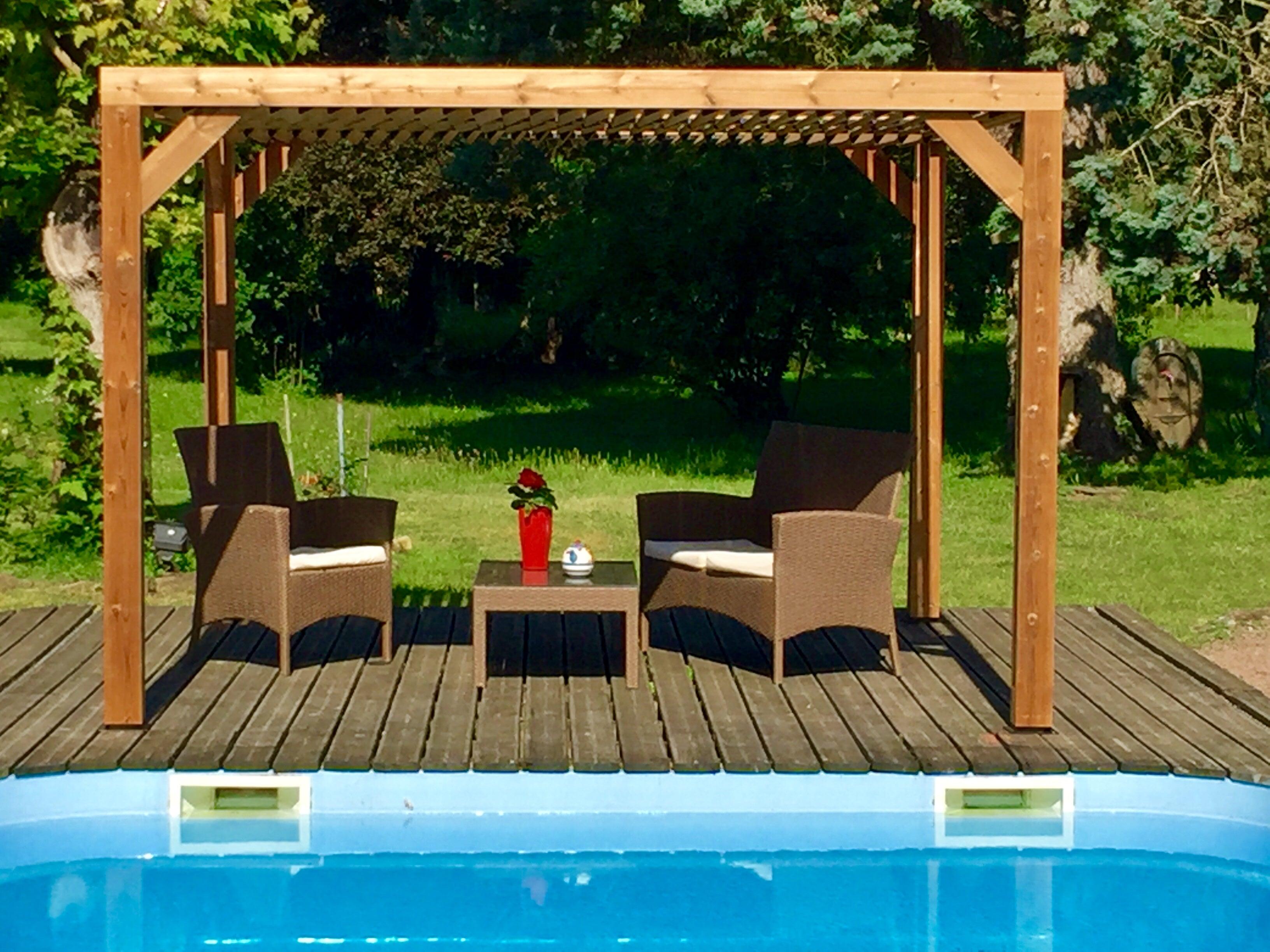 Pergola bois THT HABRITA THO 20 T, couleur marron, 20.20 m² ...
