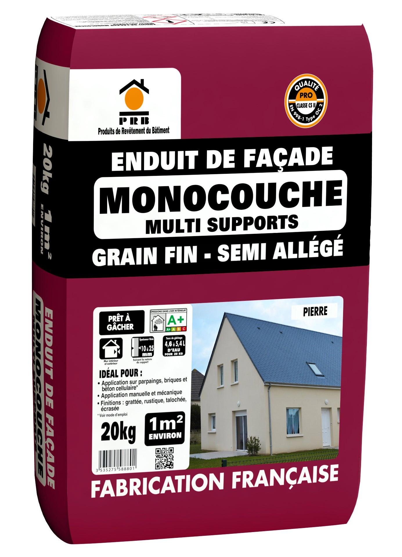 Enduit Monocouche Ton Pierre Prb 20 081 Kg Leroy Merlin