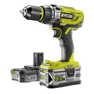 Perceuse à percussion RYOBI, 18 V 5 Ah, 2 batteries R18PD31-252S