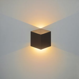 Applique Design Aluminium Noir Led Integree Lussiol Jazzy Leroy Merlin