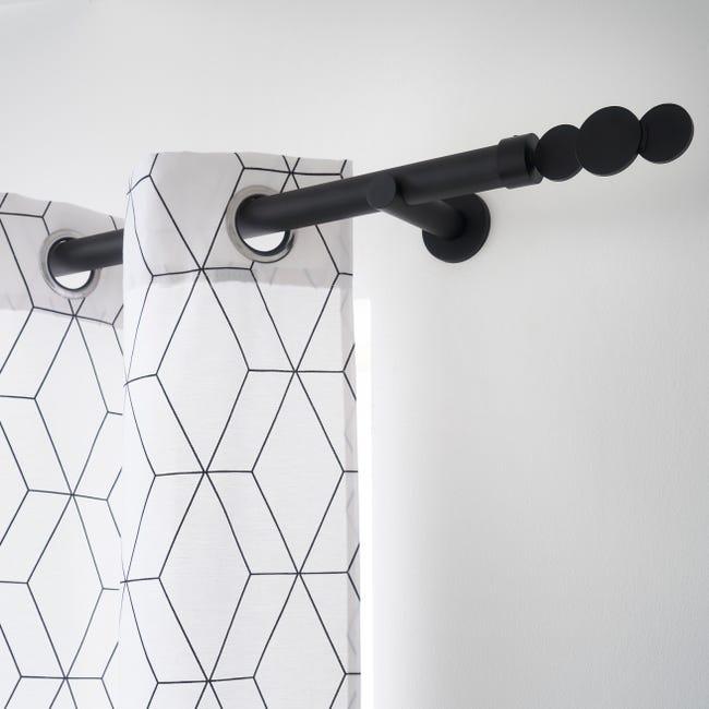 Tringle A Rideau Extensible Design Noir Mat De 200 A 360 Cm Inspire Leroy Merlin