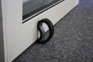 Image : Bloque-porte à fixer au mur STOPPY plastique mat blanche, noir, chêne, rouge, ve