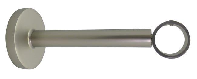 Lot De 2 Supports Extensibles Tringle A Rideau Design 20 Mm Nickel Mat Inspire Leroy Merlin