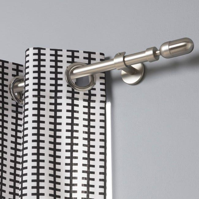 Tringle A Rideau Extensible Design Gris Mat Diam 20 Mm De 160 A 300 Cm Inspire Leroy Merlin
