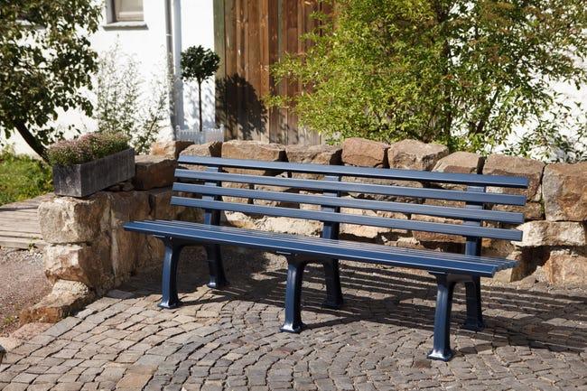 Banc De Jardin En Resine Blome Juist 3 4 Personnes Bleu Leroy Merlin