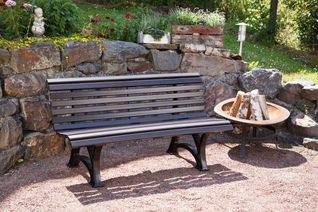 Banc De Jardin En Resine Blome Helgoland 2 3 Personnes Marron Leroy Merlin