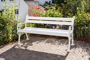 Image : Banc de jardin en résine Blome linderhof, 3 personnes, blanc