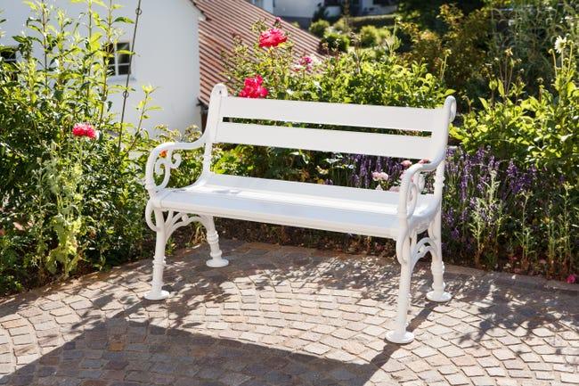 Banc De Jardin En Resine Blome Linderhof 2 Personnes Blanc Leroy Merlin