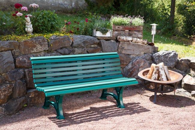 Banc De Jardin En Resine Blome Helgoland 2 3 Personnes Vert Leroy Merlin