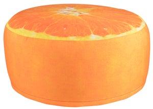Image : Pouf gonflable impression orange D38cm, imperméable Bk013