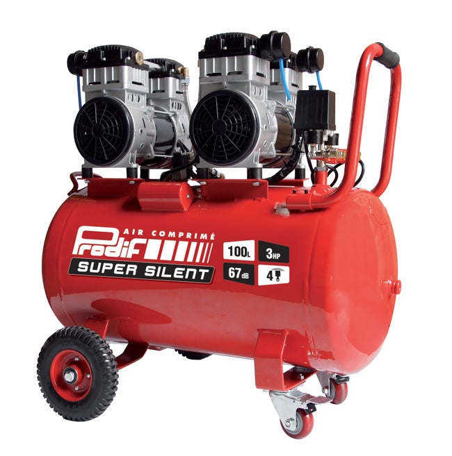 Compresseur D Atelier Silencieux Prodif 100 L 3 Cv Sil1003 230 V