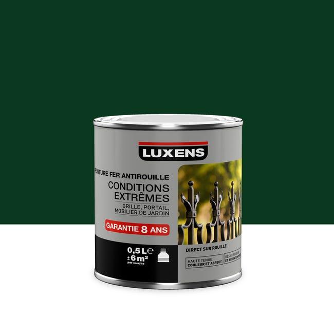 Peinture Fer Exterieur Antirouille Luxens Vert Sapin Brillant 0 5 L Leroy Merlin