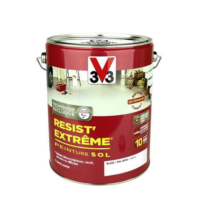 Peinture Sol Interieur Resist Extreme V33 Blanc Satine 5 L Leroy Merlin