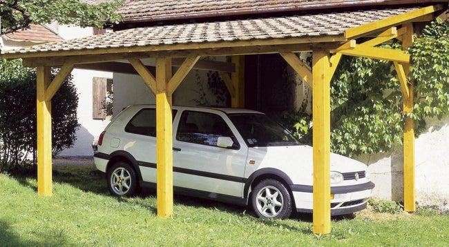 Carport Bois Vanoise 1 Voiture 15 33 M Leroy Merlin