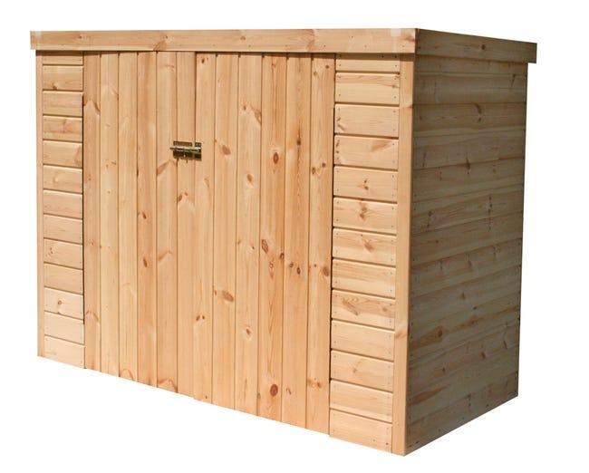 coffre de jardin bois kikka naturel l1924 x h1497 x p