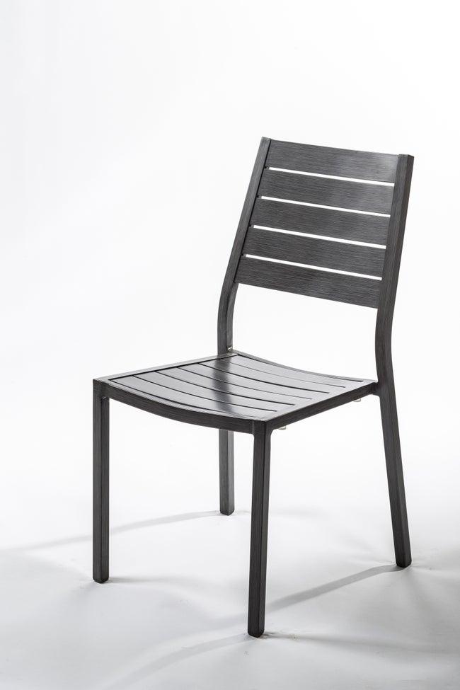 Chaise de jardin en aluminium Antibes ice/argent