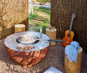 Cheminée Mexicaine Au Charbon De Bois Fiesta Mexicana Circulos Jaune