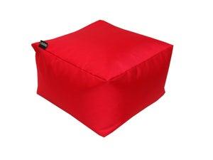 Image : Pouf de sol rouge Blok, L.50 x l.50 cm