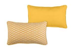 Image : Coussin Palma, jaune moutarde l.30 x H.50 cm