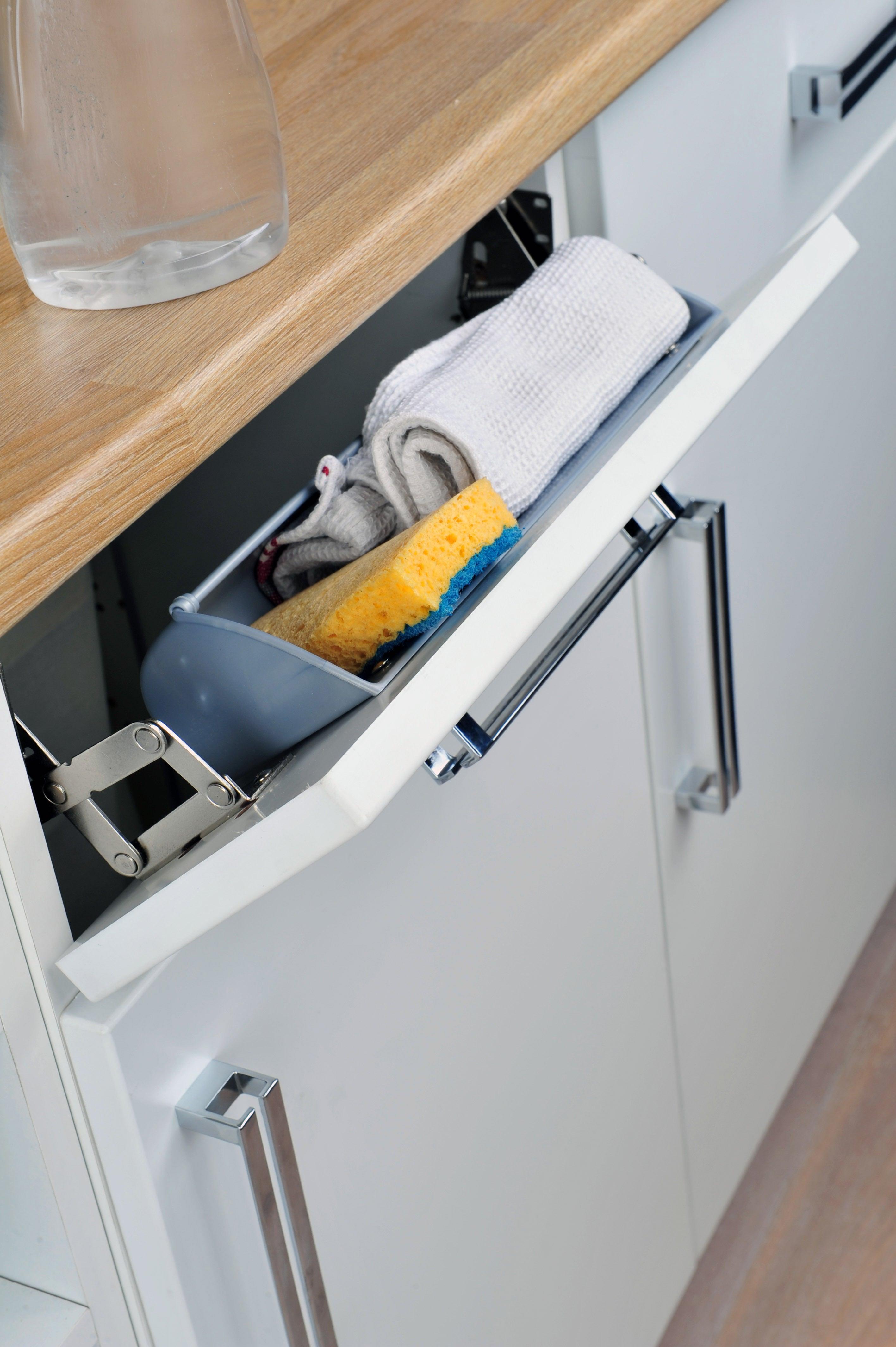 Panier faux tiroir pour meuble l.14 cm, DELINIA