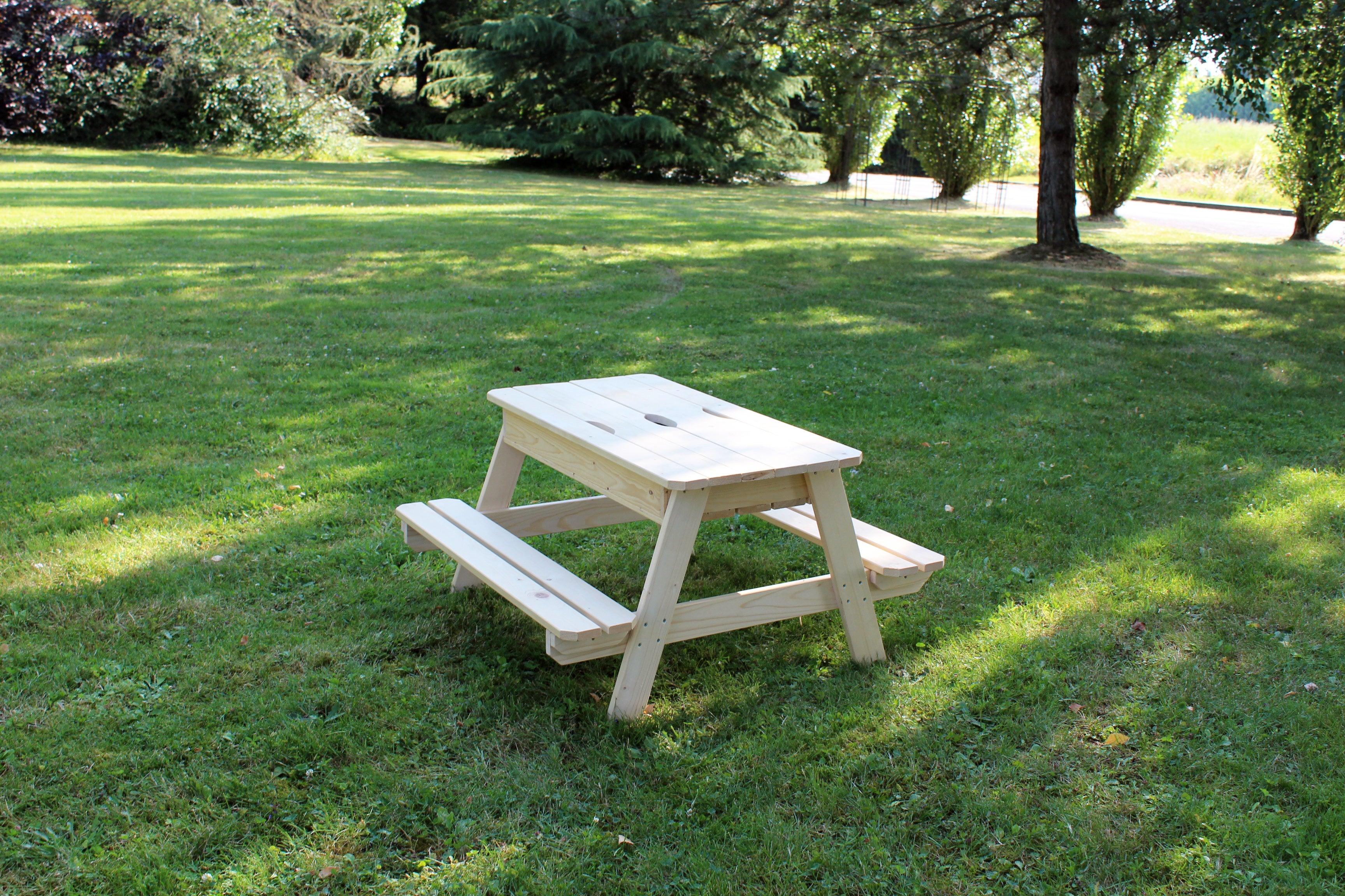 Table de pique-nique pour enfants SOULET rectangulaire 9 personnes