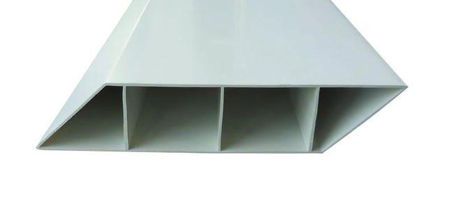 Lame Persiennee Pvc A Emboiter Littoral Blanc L 180 X H 14 Cm X Ep 30 Mm Leroy Merlin