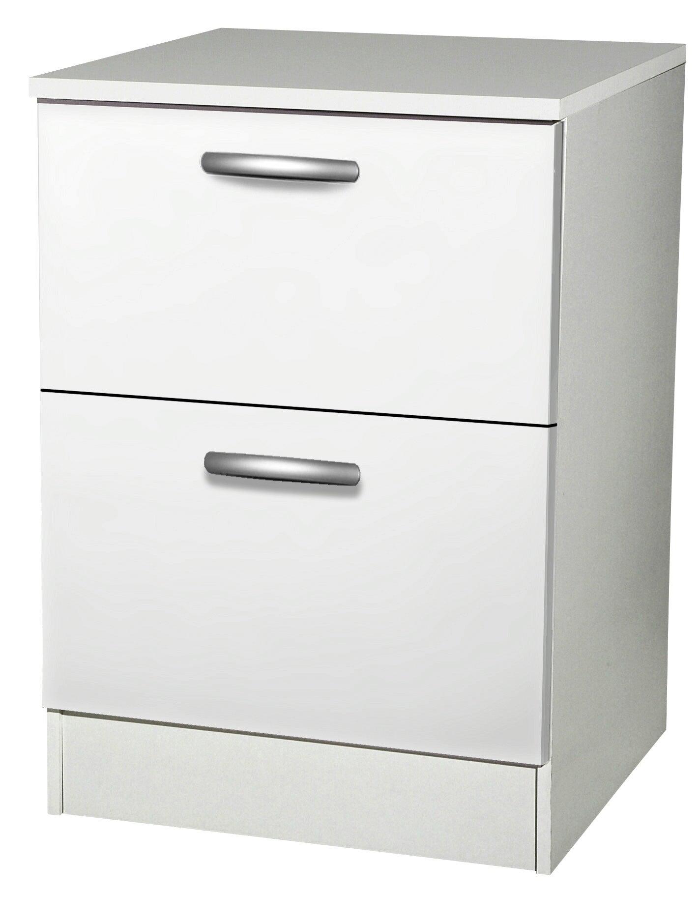 Meuble de cuisine bas 15 tiroirs casseroliers, blanc, h15x l15x p15cm