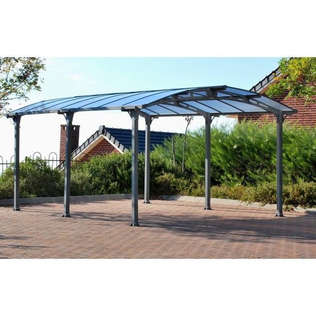 Carport Aluminium Et Polycarbonate Palram Arcadia 5000 1 Voiture