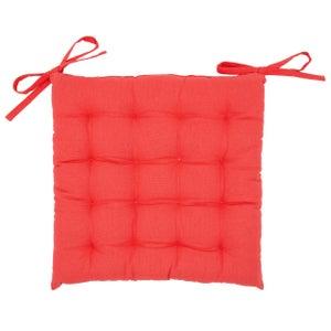 Galette de chaise Santorin, rouge l.40 x H.40 cm
