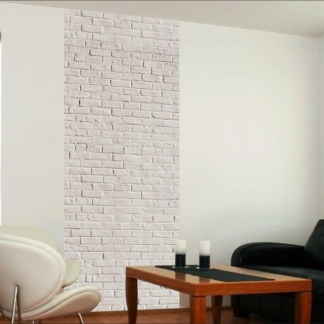 Papier Peint Intisse Le Unique Motif Briques Blanches Leroy Merlin